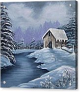 Softest Snow Acrylic Print