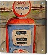 Sohio Gasoline Pump Acrylic Print