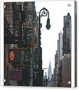 Soho Street Scene Acrylic Print