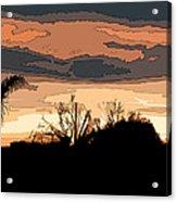 Solana Beach Sunset 2 Acrylic Print