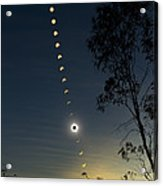 Solar Eclipse Composite, Queensland Acrylic Print by Philip Hart