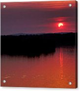 Solar Eclipse Sunset Acrylic Print