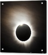 Solar Eclipse With Diamond Ring Effect Acrylic Print by Philip Hart