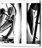 Solar Jail Triptych Acrylic Print