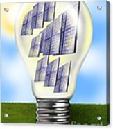 Solar Power Lightbulb Acrylic Print