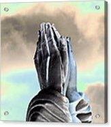 Solar Praying Hands Acrylic Print
