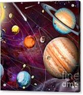 Solar System 2 Acrylic Print