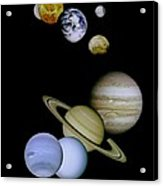 Solar System Montage Acrylic Print by Movie Poster Prints