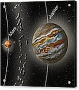Solar System Orbits, Illustration Acrylic Print