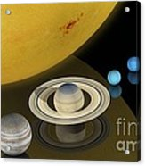 Solar System Size Comparison Acrylic Print