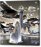 Solarized Infrared City Park Acrylic Print