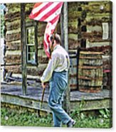 Soldier At Bedford Village Pa Acrylic Print