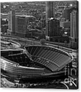 Soldier Field Chicago Sports 05 Black And White Acrylic Print by Thomas Woolworth