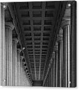 Soldier Field Colonnade Chicago B W B W Acrylic Print
