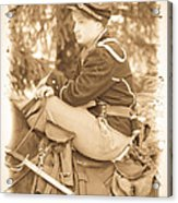 Soldier On Horse Acrylic Print