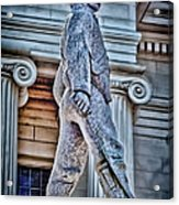 Soldier Statue Hdr Alabama State Capitol Acrylic Print