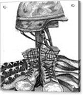 Soldiers Cross Remember The Fallen Acrylic Print by J Ferwerda