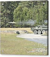 Soldiers Fire A Tow Missile Acrylic Print