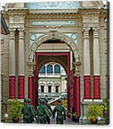 Soldiers In The Outer Court Of Grand Palace Of Thailand In Bangkok Acrylic Print