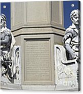 Soldiers Monument Detail Acrylic Print