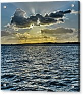 Solent Sun Rays Acrylic Print