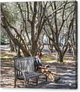 Solitaire Reading Acrylic Print