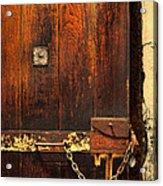 Solitary Confinement Door Acrylic Print