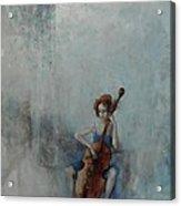 Solo Celloist Acrylic Print