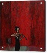 Solo Violinist Acrylic Print