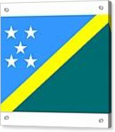 Solomon Island Flag Acrylic Print