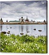 Solovetsky Monastery At Holy Lake Acrylic Print