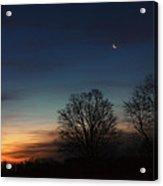 Solstice Moon Square Acrylic Print