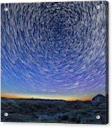 Solstice Star Trails At Dinosaur Park Acrylic Print