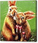 Some Bunny Loves You Acrylic Print by Linda Simon