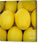 Some Fresh Melons On A Street Fair In Brazil Acrylic Print