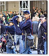 Some Revolutionary Flutiest Playing In The 2009 New York St. Patrick Day Parade Acrylic Print