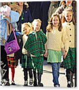 Some Sisters Enjoying Themselves At The 2009 New York St. Patrick Day Parade Acrylic Print