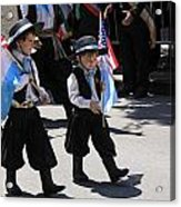 Some Young Italian Boys Marching In The St. Patrick Old Cathedral Parade Acrylic Print