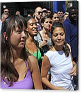 Some Young Ladies Enjoying The 2009 Cleansing Of 46th Street Acrylic Print