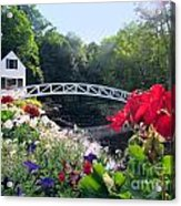 Somesville Bridge And Home Acrylic Print
