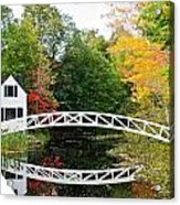Somesville Bridge In Autumn Acrylic Print by Lena Hatch