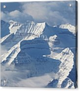 Somewhere Over The Rockies Acrylic Print by Angie Vogel