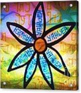 Son Flower Acrylic Print