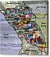 Sonoma County Collage Acrylic Print
