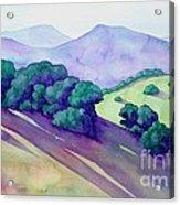 Sonoma Hills Acrylic Print by Robert Hooper