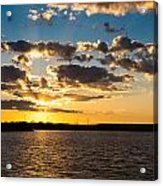 Sooner Lake Sunset Acrylic Print