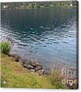 Soothing Lake Crescent Acrylic Print