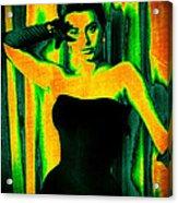Sophia Loren - Neon Pop Art Acrylic Print
