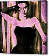 Sophia Loren - Purple Pop Art Acrylic Print by Absinthe Art By Michelle LeAnn Scott