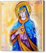 Sorrowful Immaculate Heart Acrylic Print by Myrna Migala